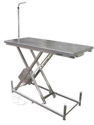 Mesa de elevação veterinária